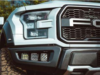 Крепеж для монтажа 6 фар D-серии в места штатных ПТФ Ford F-150 Raptor 2017-