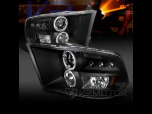 Комплект черных светодиодных фар Halo Dodge Ram
