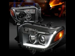 Комплект черных светодиодных фар