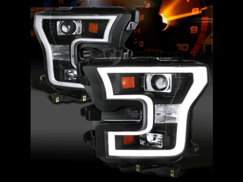 Комплект черных светодиодных фар Ford F-150 2015-2017