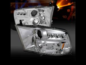 Комплект хромированных светодиодных фар Halo Dodge Ram