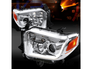 Комплект хромированных светодиодных фар Toyota Tundra